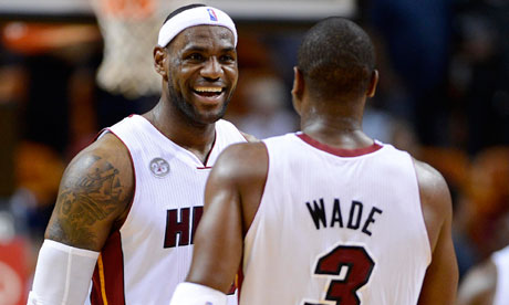 Miami Heat's LeBron James and Dwyane Wade
